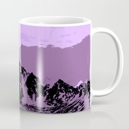 Chugach Mountains - EggPlant Pop Art Coffee Mug
