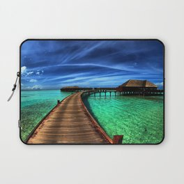 Stilt Bungalows In Mauritius Holiday Resort Ultra HD Laptop Sleeve