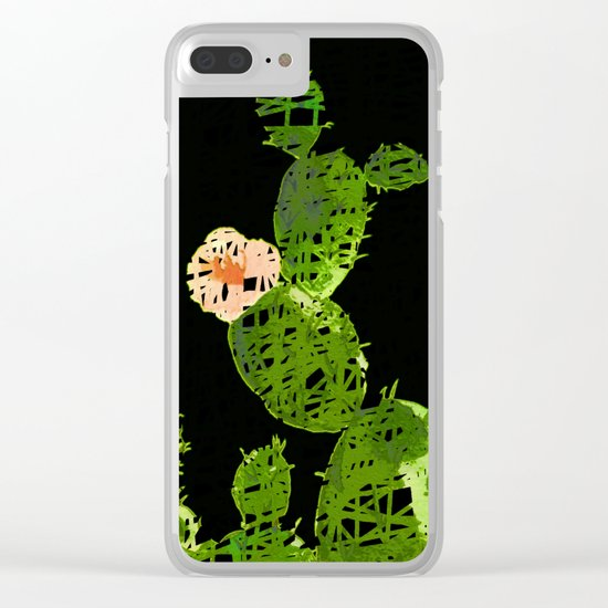 weird cactus black version Clear iPhone Case