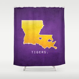 Louisiana State Tigers Shower Curtain