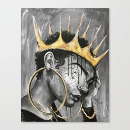 Naturally Queen X Canvas Print