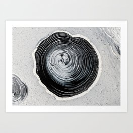 The Hole (Black and White) Art Print