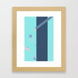 Popping Shapes Framed Art Print