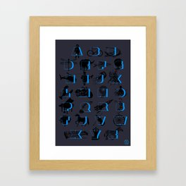 The Alphabet Framed Art Print