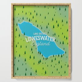 Loweswater Lake District England travel map Serving Tray