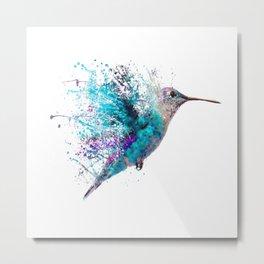 HUMMING BIRD SPLASH Metal Print