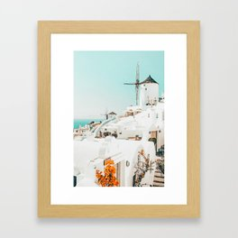 Holiday ||| #photography #travel #greece Framed Art Print