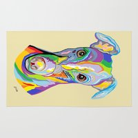 greyhound Area & Throw Rugs featuring Greyhound by EloiseArt