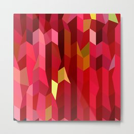 Cardinal Red Abstract Low Polygon Background Metal Print