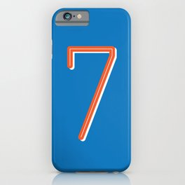 The Lucky Number Seven iPhone Case