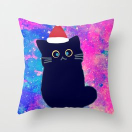 Merry Christmas cat 601 Throw Pillow