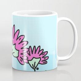 Three Spring Flowers - Blue Coffee Mug