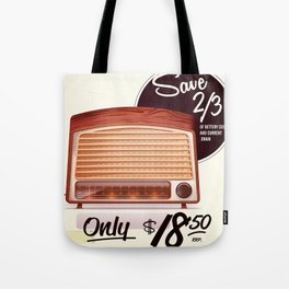 Vintage American radio advert Tote Bag