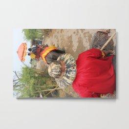 Elephant Trek Metal Print