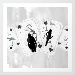 A PAIR OF CROWS - SET 01 Art Print