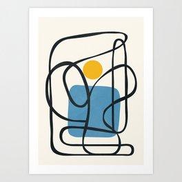 Abstract Line IV Art Print