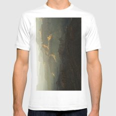 The Grand Canyon Sunset MEDIUM White Mens Fitted Tee
