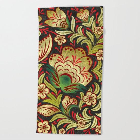 Shabby flowers #6 Beach Towel