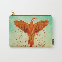 Phoenix Rising -Mixed media Carry-All Pouch