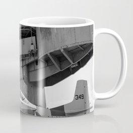 Warbird Up Top On The USS.Hornet BW Coffee Mug