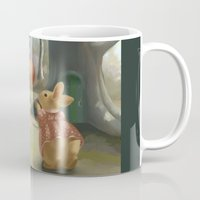rabbits Mugs featuring Rabbits by Elena Naylor