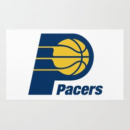 Indiana Pacer Logo Rug