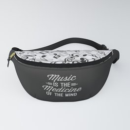 Music Medicine Mind Quote Fanny Pack