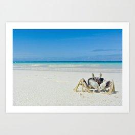 CRAB ON A TROPICAL ISLAND Art Print