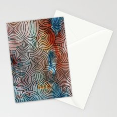 Circles, Water, & Color Drawing Meditation Stationery Cards