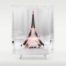 pariS Black & White + Pink copyright 2sweet4wordsDesigns Shower Curtain