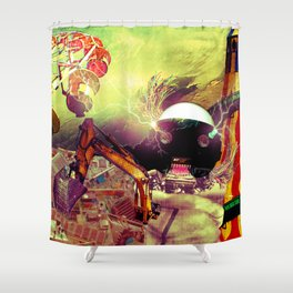 Hoo son, we have a problem! Shower Curtain