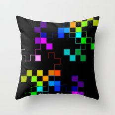 squares and squares again Throw Pillow