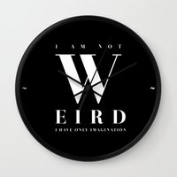 weird Wall Clocks featuring Weird by neuprouns