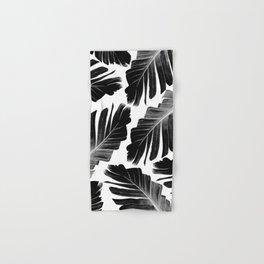 Tropical Black Banana Leaves Dream #1 #decor #art #society6 Hand & Bath Towel