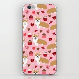 Corgi cupcakes valentines day cute love hearts dog breed corgi crew welsh corgis gifts iPhone Skin