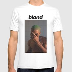 FRANKLY BLOND White X-LARGE Mens Fitted Tee