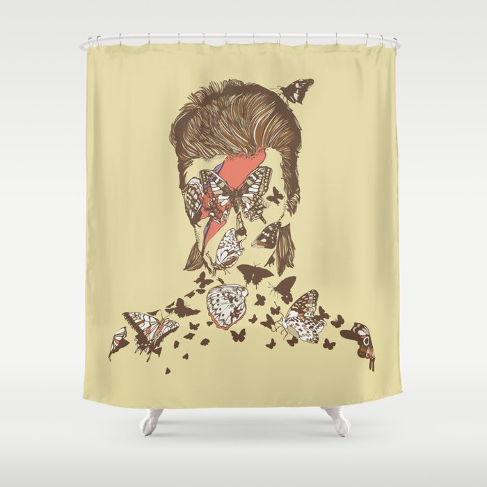 FACES OF GLAM ROCK Shower Curtain By Huebucket