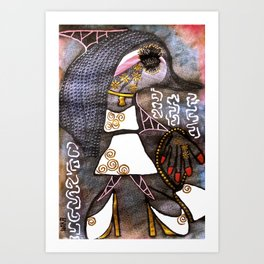 Dolphin Fashion Star tetkaART Art Print