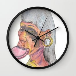 Kayapo Man Wall Clock
