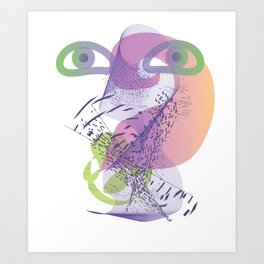 double vision Art Print