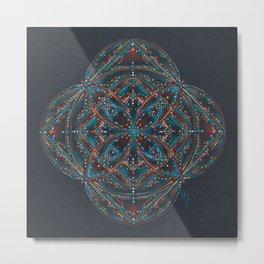 Sedona Votex Mandala Metal Print