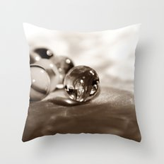 GLASKUGELN - SEPIA Throw Pillow