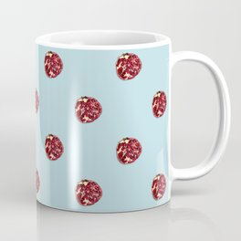 Pomegranates Grid Blue Coffee Mug