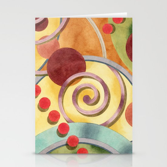 Europa Allover Design Stationery Cards