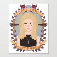 buffy Canvas Prints featuring Buffy Summers by heymonster