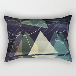 The Geometry of Thoughts Rectangular Pillow