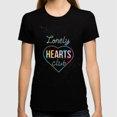 Lonely hearts club Womens Fitted Tee Black SMALL