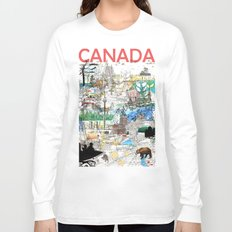 Canada (portrait version) Long Sleeve T-shirt