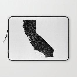 California Black Map Laptop Sleeve