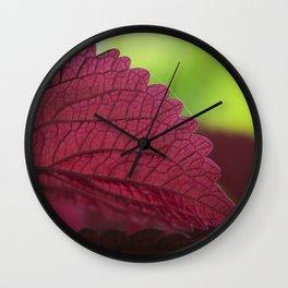 Coleus Pink III Wall Clock